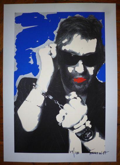TERRASSON Pierre  « Serge Gainsbourg » sérigraphie...