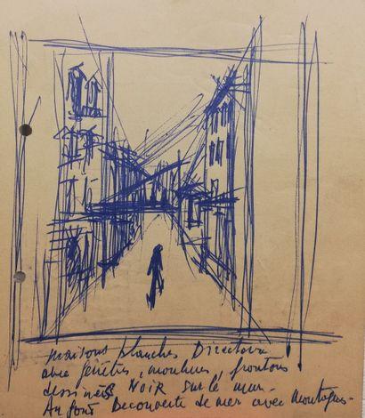 PARIS Gabriel  Encre sur papier. Non signée...