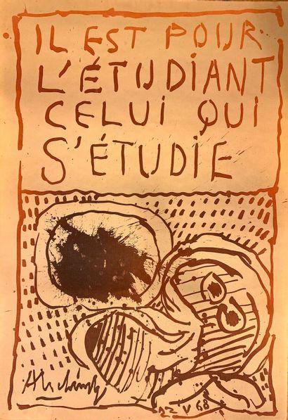 ALECHINSKY Pierre    1968  Affiche originale...