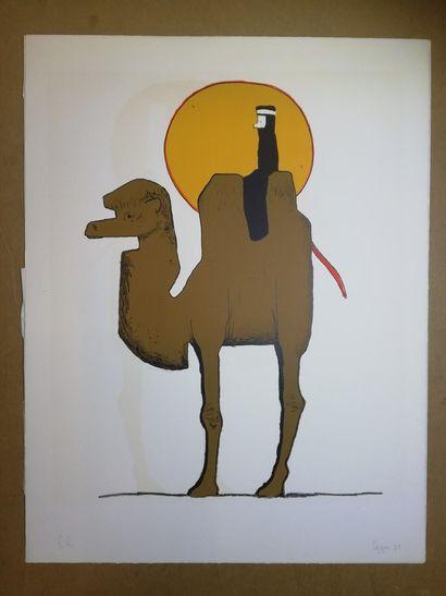 """AZMAR  1971  Lithographie sur papier. Signée en bas à droite. Datée. Justifiée """"E.A.""""..."""
