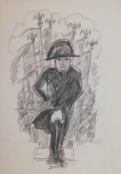 DECARIS Albert  Dessin à la mine de plomb...