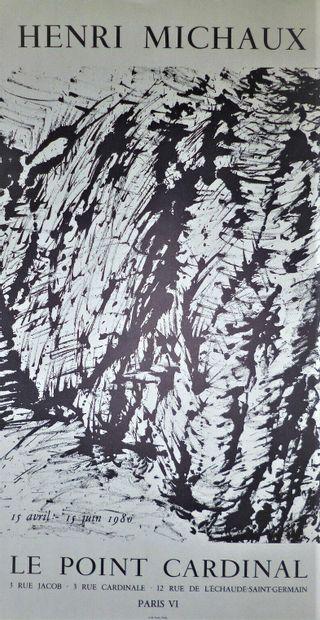MICHAUX Henri  1964  Affiche originale. Imprimée par Imprimerie moderne du lion...