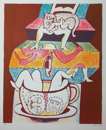 WEISS Hugues  1971  Lithographie. Signée...