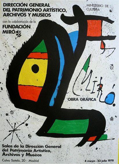 MIRO Joan    1978  Affiche originale en Lithographie...