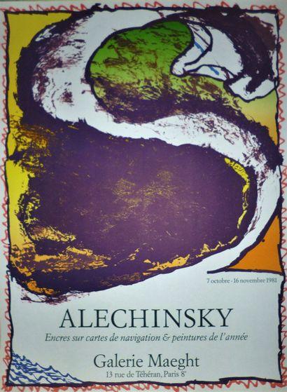 ALECHINSKY Pierre  1981  Original poster. Maeght exhibition  74 x 55 cm