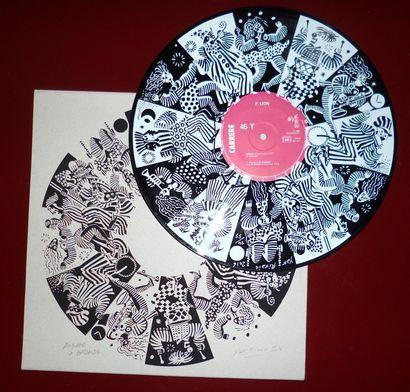 RIVAIS Yak  Sérigraphie sur vinyle 33t Signée...