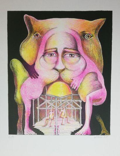 WEISS Hugues  1978  Lithographie, justifiée...