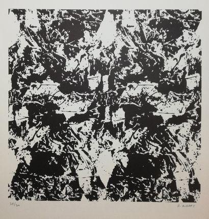 BORDAS  Lithographie. Signée en bas à droite et numérotée sur 30  51x48cm