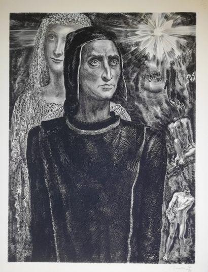 DECARIS Albert  Dante  Gravure originale...