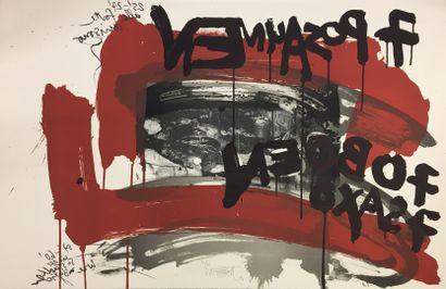 VOSTELL Wolf  Lithographie originale  Signée...