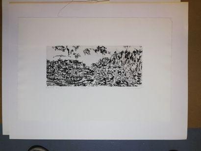 DARMON Jean-Claude  Horizon B 1972  Gravure...