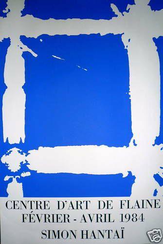 HANTAÏ Simon    Affiche originale en sérigraphie...