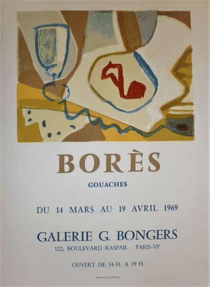 BORES Francisco    1969  Poster lithograph. Made for the Gallery G. Bongers Paris...