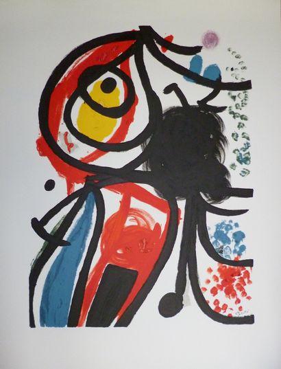 MIRO Joan  Lithographie d'après FIAC  signature...