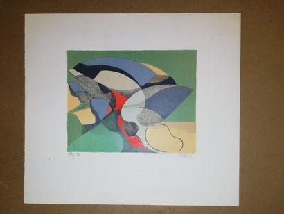 PERRE Daniel  1962  Lithographie sur papier....