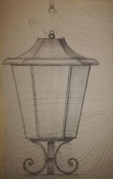 POILERAT Gilbert  Art et Métal. Luminaire...