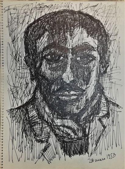 PARIS Gabriel  1953  Encre sur papier. Non...