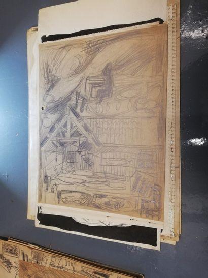PARIS Gabriel  mine de plomb sur papier....