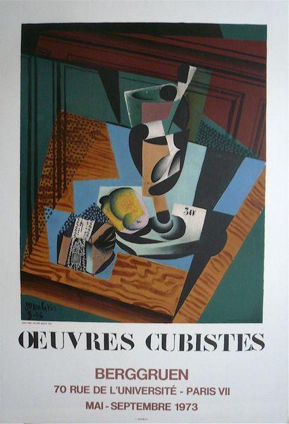 GRIS Joan  Affiche en Lithographie  Réalisée...