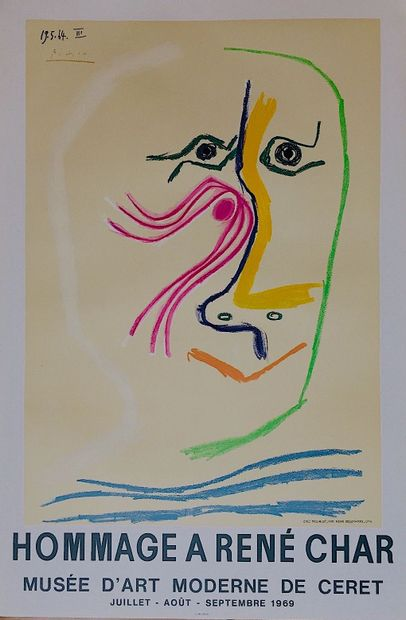 PICASSO Pablo  Affiche lithographie - «Hommage...