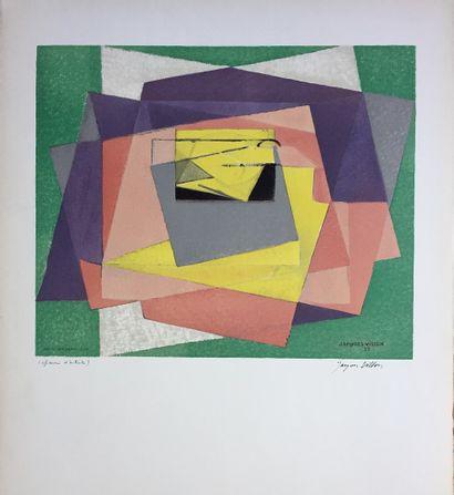 VILLON Jacques  Lithographie «composition...