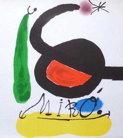 MIRO Joan    Affiche originale en lithographie....