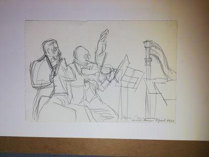 JACQUEMIN André  Concert à Epinal 1961  Dessin...
