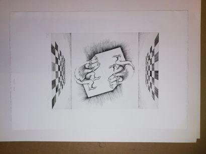 JOBERT Yves  Cubistes  Gravure sur papier....