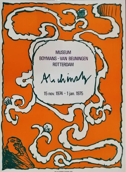 ALECHINSKY Pierre  Rotterdam 1975  Original poster lithograph  80x58cm