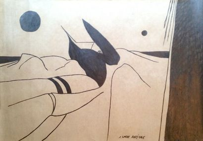 ARTIGAS Gary    Original work. Pencil on paper. Signed lower right  60 x 80 cm