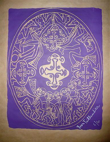 TAILLANDIER Yvon  Lithographie sur Kraft,signée...