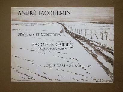 JACQUEMIN André  Gravures et Monotype  1965...
