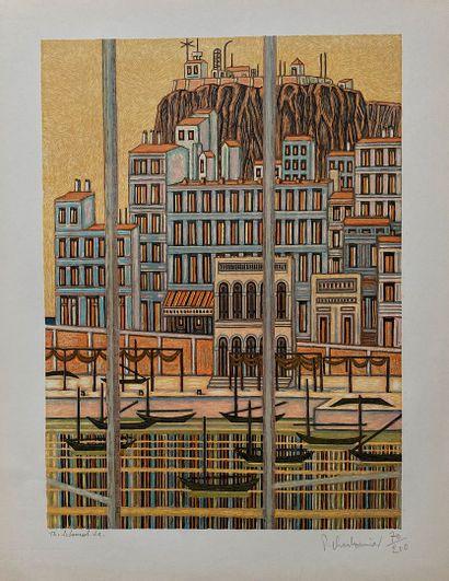 CHARBONNIER Pierre  Lithographie  Signée...