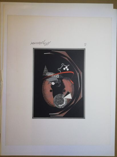 LE YAOUANC Alain  Lithographie sur papier....