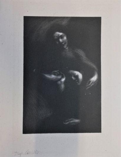 CARRIERE Eugène  Lithographie signée en bas...