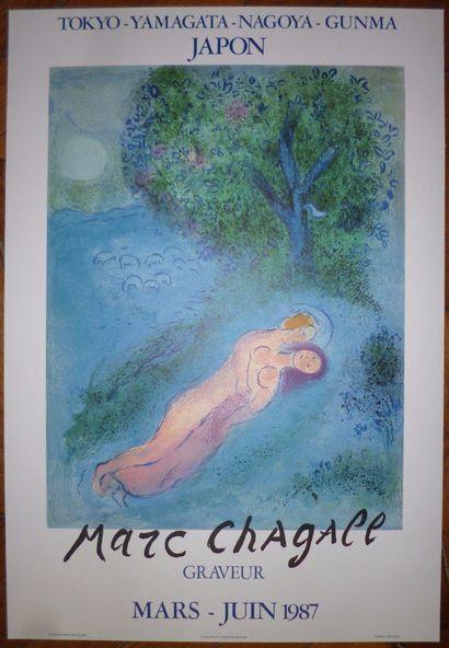 CHAGALL Marc  Affiche en Lithographie réalisée...
