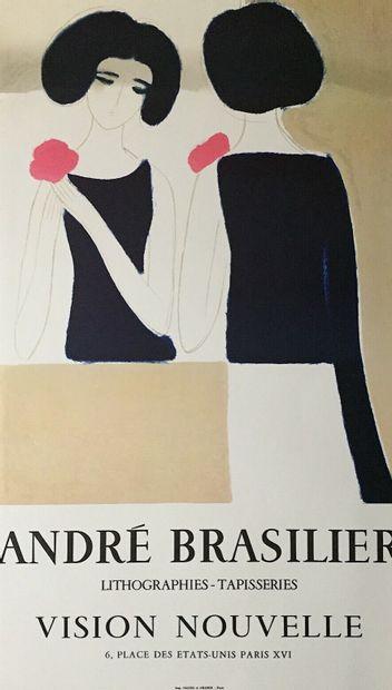 BRASILIER André  Affiche en lithographie....