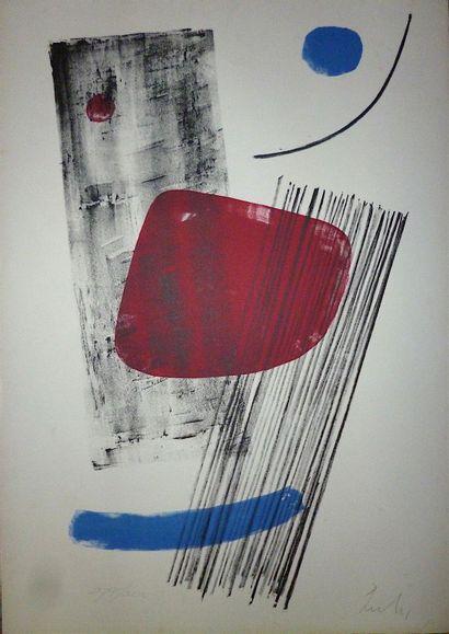 LARDERA Berto  Lithographie 1965  Signée...