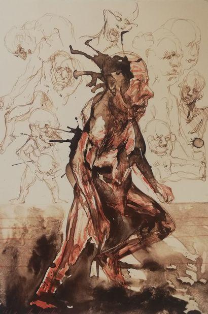 HOUMPLAIN Jacques  Lithographie sur papier....