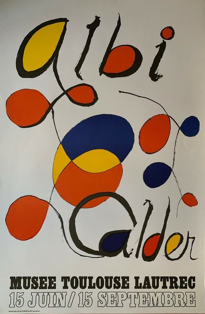 CALDER Alexander    Affiche en lithographie...