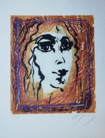 GUINY Jean-Marie  Lise  Gravure sur papier....