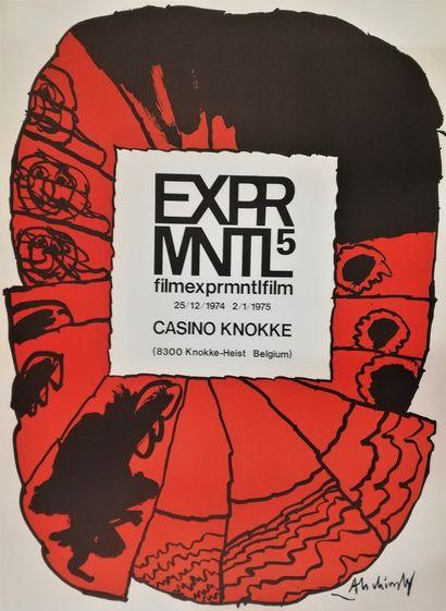 ALECHINSKY Pierre  KNOKKE 1975  Original poster lithograph  80x60cm