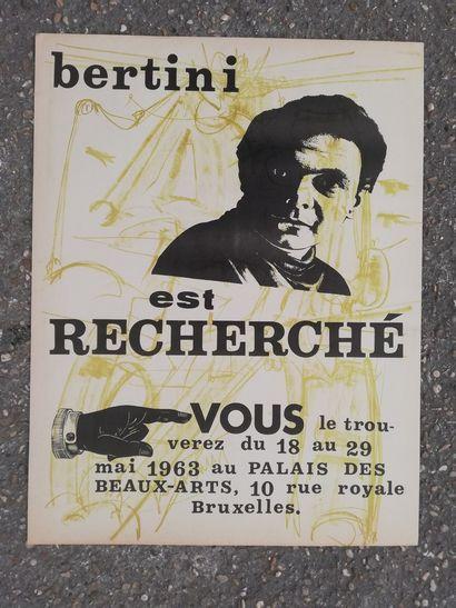 BERTINI Giani  Bruxelles 1963  Affiche originale lithographie sur papier.  65x5...