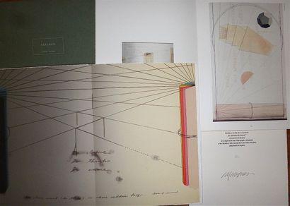 "ARAKAWA Shusaku  ""Behind the Mirror"" 1982 luxury edition on vellum, signed and numbered..."