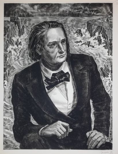 DECARIS Albert  Victor Hugo  Gravure originale...