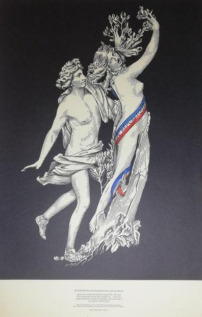BERNINI (d'après)  La République  Sérigraphie d'après une gravure de Bernini accompagné...