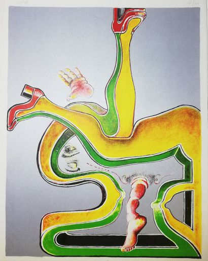WEISS Hugues  1975  Lithographie. Signée...