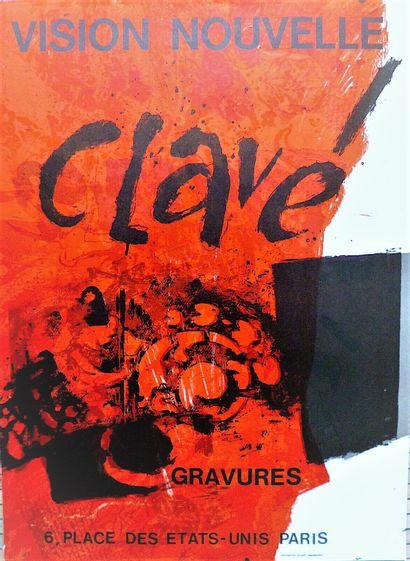 CLAVE Antoni    Affiche originale Lithographie....