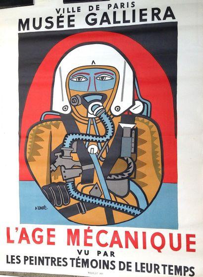 LHOTE André  « L'age mécanique » Affiche en lithographie 1959 Réalisée pour une...