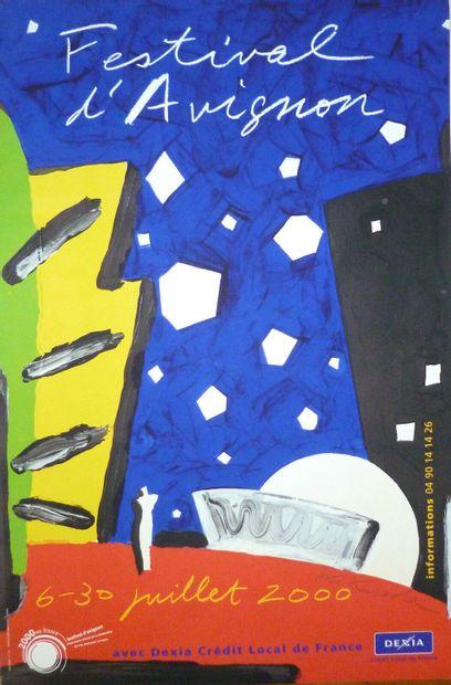 KURODA Aki    festival d'Avignon, 2000  Affiche...